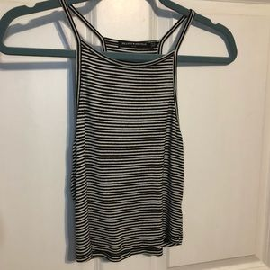 Brandy Melville Blue & White Striped Crop Top